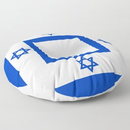 Israel Flag - High Quality image Floor Pillow