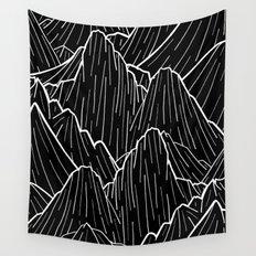 The dark mountain range Wall Tapestry