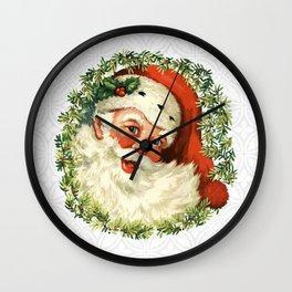 Retro Santa Claus- It's almost Christmas! Wall Clock