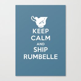 Keep calm and ship Rumbelle Canvas Print