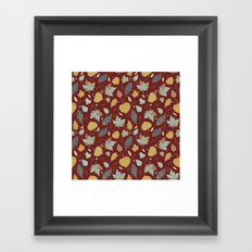 Falling Leaves Framed Art Print