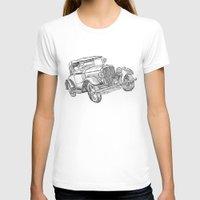 car T-shirts featuring car by Puti Wen