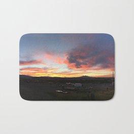 Cody Sunset Over Heart Mountain Bath Mat