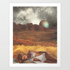 the life and death of stars - collab with sammy slabbinck Art Print