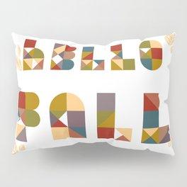 Hello Fall Geometric Boho Typography Art Pillow Sham