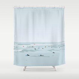 Lima, Peru, Playa Waikiki, Miraflores Travel Poster Shower Curtain