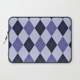 Blue Argyle Pattern Laptop Sleeve