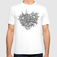 Face Flow Line MEDIUM White Mens Fitted Tee