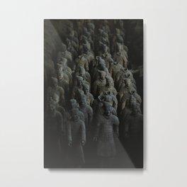 Terra-cotta Warriors of Xian China Metal Print