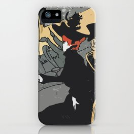 After Lautrec - Divan Japonais iPhone Case