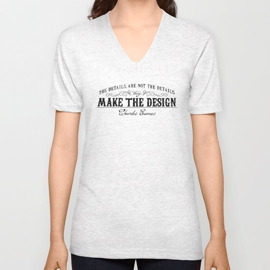 The Details are not the Details Unisex V-Neck