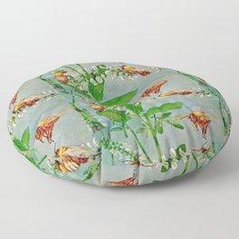 Vintage illustration bees Floor Pillow