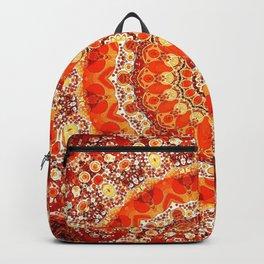 Orange Mandala Bohemian Decor Backpack