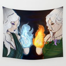 Queen Mab and Queen Titania Wall Tapestry