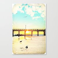boardwalk empire Canvas Prints featuring Boardwalk by Mina Teslaru