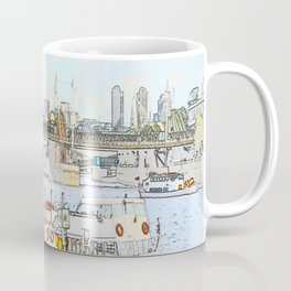 London River Scene Coffee Mug