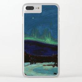 Tom Thomson Northern Lights Canadian Landscape Artist Clear iPhone Case
