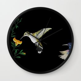 Colibris Wall Clock