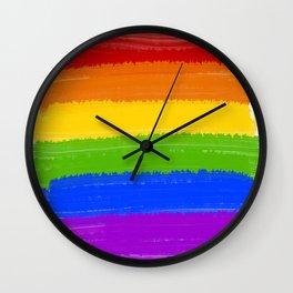 Rainbow Pride Flag Wall Clock