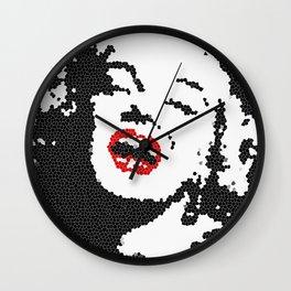 Monroe Red Wall Clock