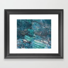 Siena turchese - blue marble Framed Art Print