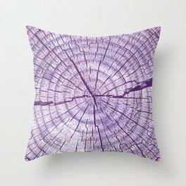 The Stump Violet Throw Pillow