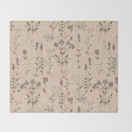 homeland flora Throw Blanket