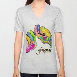 ASL Friend Bright Colors Unisex V-Neck