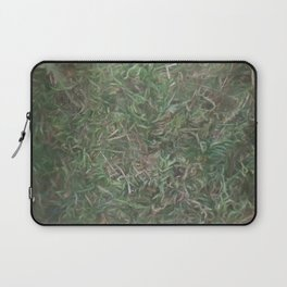 grass lawn texturized for background and texture Laptop Sleeve