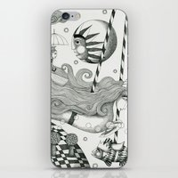 lake iPhone & iPod Skins featuring East of Blue Lake by Judith Clay