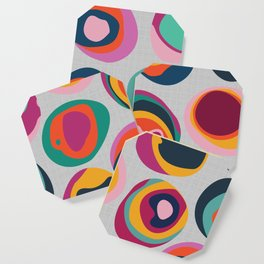Rainbow Resin Coaster