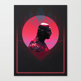 Drax 80's Character Poster Canvas Print