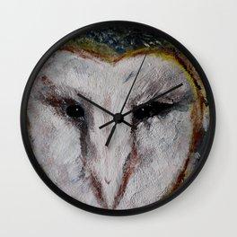 Barn Owl Impressionist Fine Art Wall Clock
