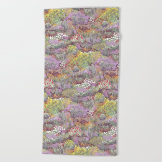 Life in Death Valley Beach Towel