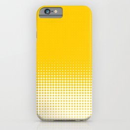 Yellow Dot Ombre to White iPhone Case