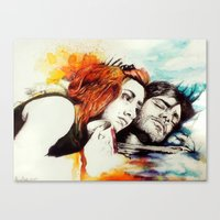 eternal sunshine Canvas Prints featuring Eternal Sunshine by Alycia Plank