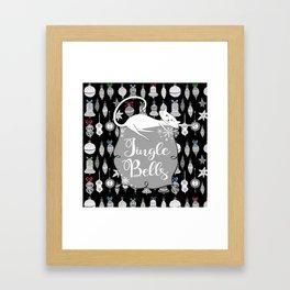 Jingle Bells - Christmas Cats Framed Art Print