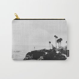 Laguna Beach | LoFi Black and White Relaxed Aesthetic Pink Sunset Palm Trees Hippie Ocean Waves Carry-All Pouch