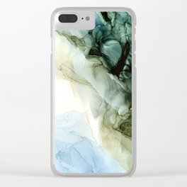Land and Sky Abstract Landscape Painting Clear iPhone Case