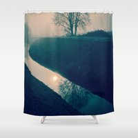 buddhism Shower Curtains featuring Experience by Schwebewesen • Romina Lutz