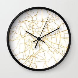 ROME ITALY CITY STREET MAP ART Wall Clock
