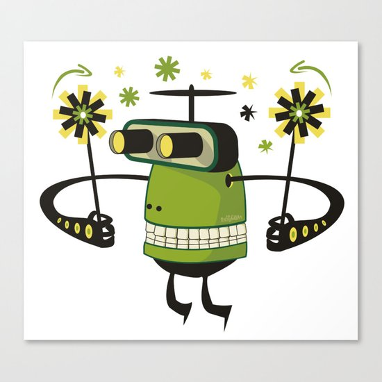 Mister Green Canvas Print