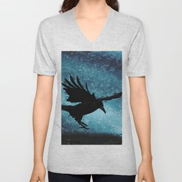 Descent of the Midnight Rook Unisex V-Neck