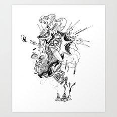 Ink Entanglement Art Print