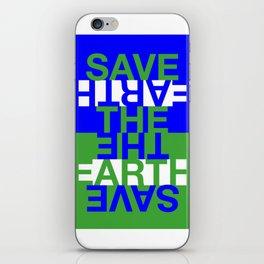 Save the Earth iPhone Skin