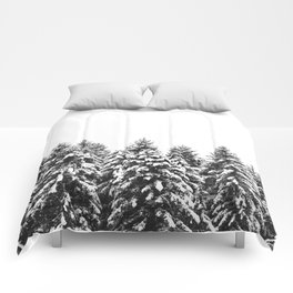 White Snow Forest No1 Comforters