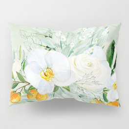 White Orchid Series: Orchid and Kumkwat Pillow Sham