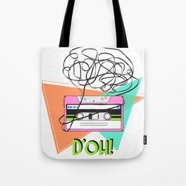 90s and 80s messy meme of cassette tape Tote Bag