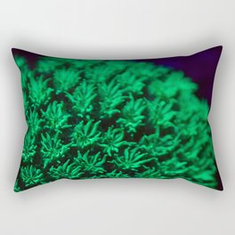 Fluorescent coral polyps reaching toward infinity Rectangular Pillow