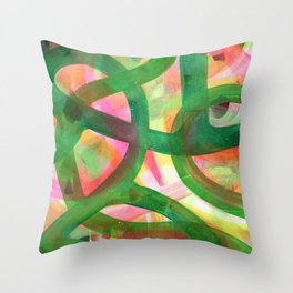 End of bloom Throw Pillow